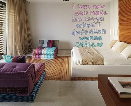 adesivo para quarto de menina 450x364 Conheça os Adesivos decorativos de parede mais legais, 2 Tutoriais para colar os adesivos