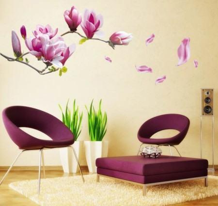 adesivos decorativos de sala 450x425 Conheça os Adesivos decorativos de parede mais legais, 2 Tutoriais para colar os adesivos
