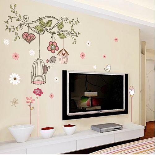 adesivos na parede da tv Conheça os Adesivos decorativos de parede mais legais, 2 Tutoriais para colar os adesivos