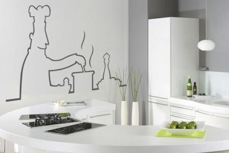 adesivos para cozinha de casa 450x300 Conheça os Adesivos decorativos de parede mais legais, 2 Tutoriais para colar os adesivos