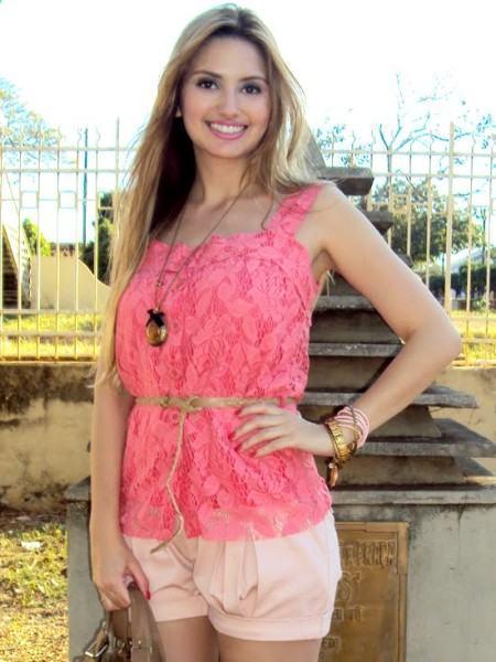 blusinha rosa de renda
