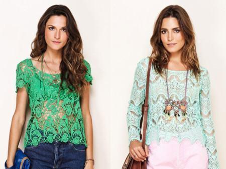 blusinhas baratas de renda 450x338 Lindas Blusas femininas com renda pra usar com calça ou saia, veja looks