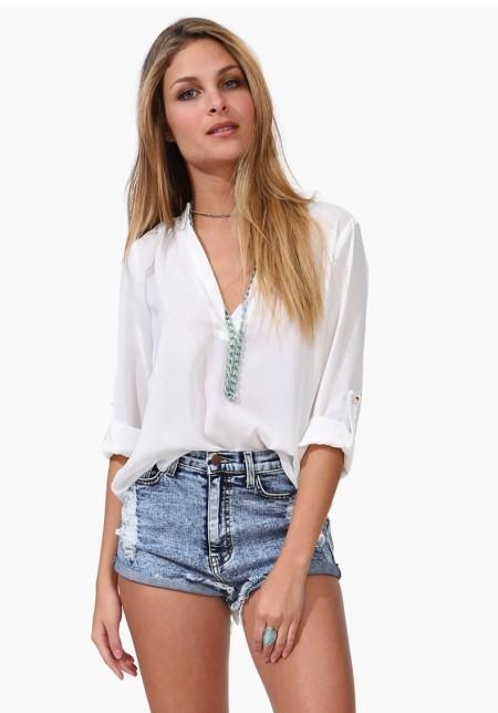 blusinhas de chiffon abertas