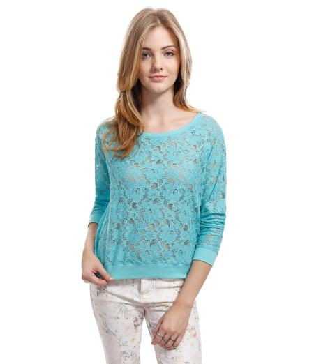 blusinhas de renda azul