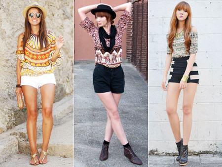 blusinhas estampadas etnicas 450x338 Blusinhas femininas estampadas: Ombro vazado, manga longa, regatinha, tomara que caia
