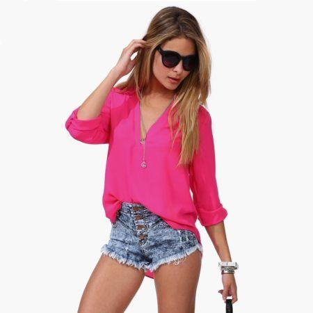 blusinhas femininas da moda 450x450 AS BLUSINHAS FEMININAS DE VERÃO em suas estampas e modelitos estilosos