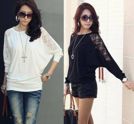 blusinhas femininas de cetim da moda 450x418 AS BLUSINHAS FEMININAS DE VERÃO em suas estampas e modelitos estilosos