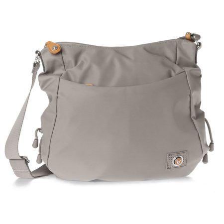 bolsa feminina transversal em nylon cinza 450x450 Como usar Bolsa feminina transversal em vários modelos