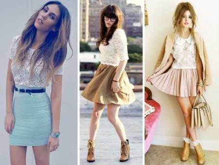 fotos blusa de renda com saia 450x340 Lindas Blusas femininas com renda pra usar com calça ou saia, veja looks
