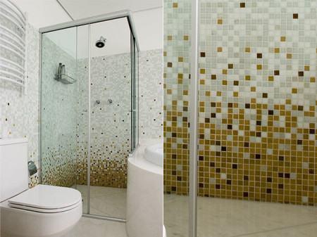 fotos de banheiro com pastilhas 450x337 Pastilhas para banheiro decorativas ideais revestir as paredes