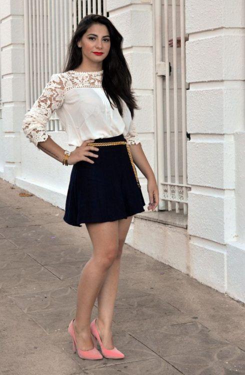 imagem 23 1 490x750 Lindas Blusas femininas com renda pra usar com calça ou saia, veja looks