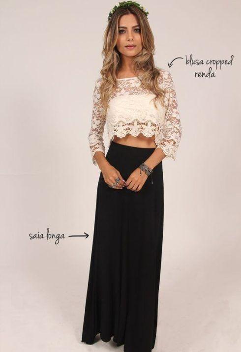 imagem 24 1 490x716 Lindas Blusas femininas com renda pra usar com calça ou saia, veja looks
