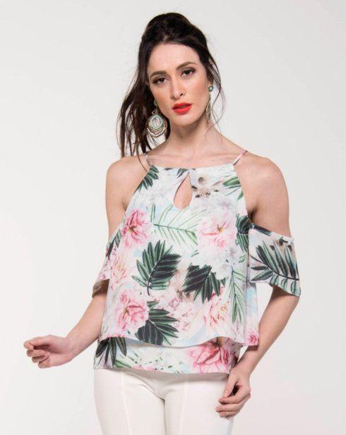 imagem 3 490x617 Blusinhas femininas estampadas: Ombro vazado, manga longa, regatinha, tomara que caia