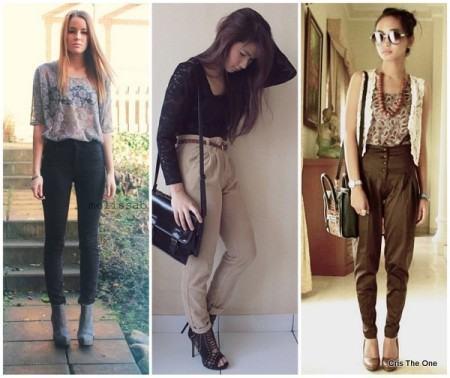 looks blusinhas de renda com calca 450x378 Lindas Blusas femininas com renda pra usar com calça ou saia, veja looks