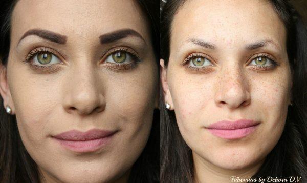 Fazendo Maquiagem para esconder sardas do rosto