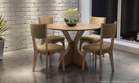 mesa de jantar 4 cadeiras redonda