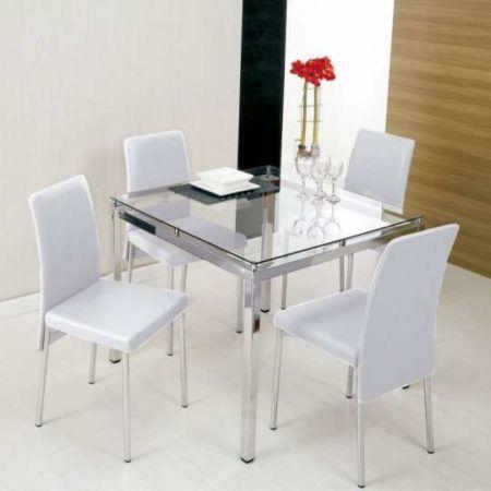 mesa de jantar 4 cadeiras retangular 450x450 Tipos de MESAS DE 4 CADEIRAS para jantar em família
