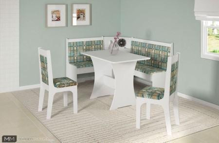 mesa de jantar de canto 4 lugares