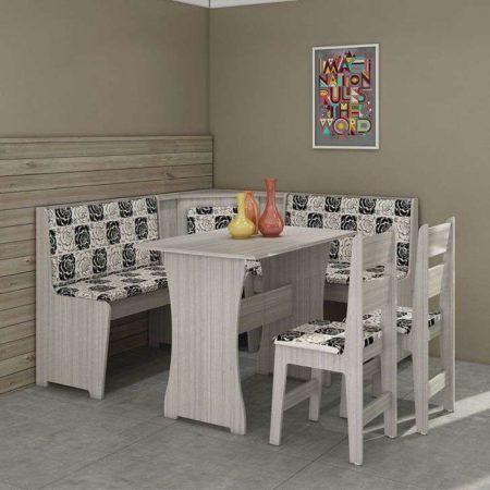 mesa de jantar de canto 4 lugares basica