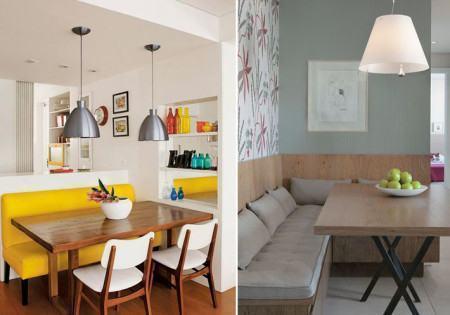 mesa de jantar de canto 4 lugares moderna