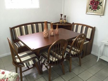 mesa de jantar de canto 4 lugares para apartamento