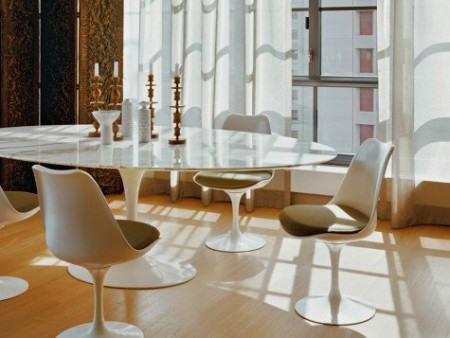 mesa de jantar oval 4 lugares espacosa 450x338 Tipos de MESAS DE 4 CADEIRAS para jantar em família