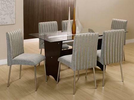 mesas de jantar 6 cadeiras pequena