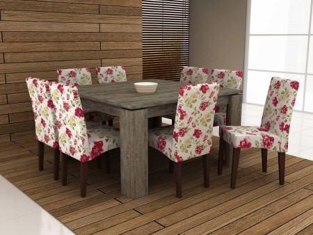 mesas de jantar com 8 cadeiras estilo rustico