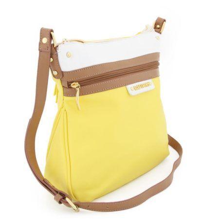 moda jovem bolsa transversal amarela pequena