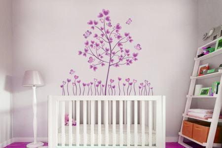 quarto de bebe com adesivo 450x300 Conheça os Adesivos decorativos de parede mais legais, 2 Tutoriais para colar os adesivos