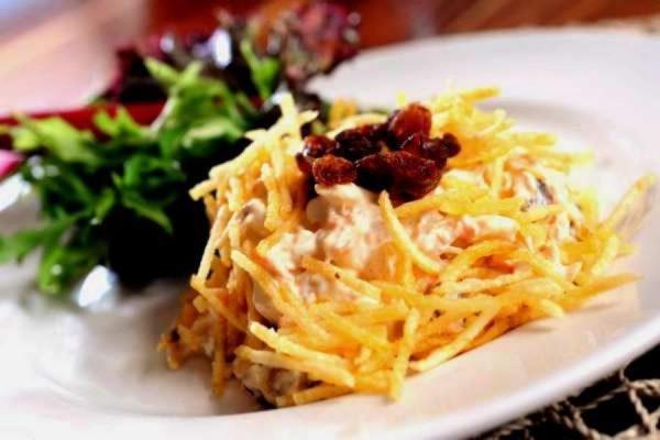 Receita de salpicão de batata palha pro almoço