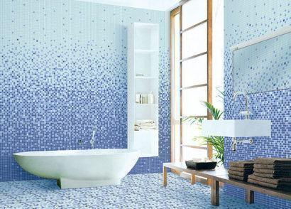 azuis em pastilhas lindas para o banheiro