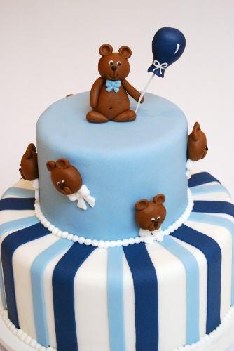 azul de menino Bolos decorados para aniversários e festas (Infantil ou adulto)