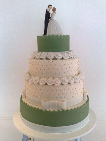 bolo de casamento com pasta americana 3 andares