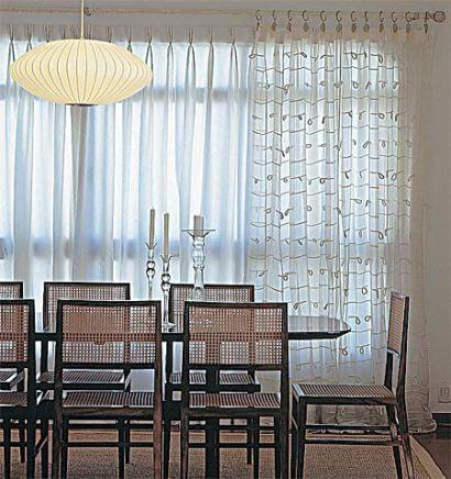 Cortinas de var o para sala e outros ambientes da for Bases para colgar cortinas