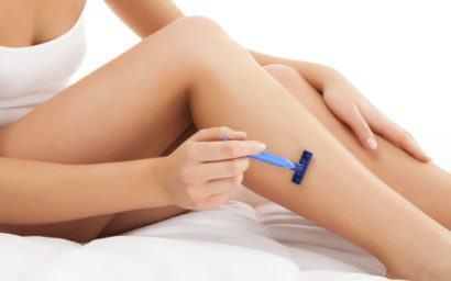 depilar a perna com gilete