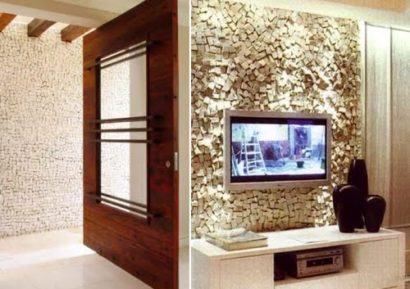 fotos painel de tv de pedra