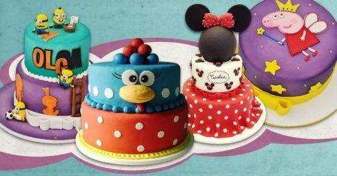imagem 23 5 490x256 Bolos decorados para aniversários e festas (Infantil ou adulto)