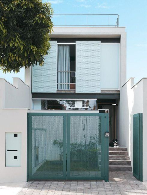 imagem 28 3 490x650 Tipos de portão para garagem do carro residencial