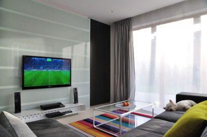 painel de tv com vidro