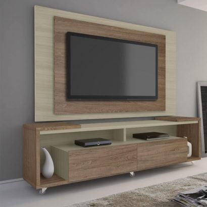 painel de tv em mdf com gavetas