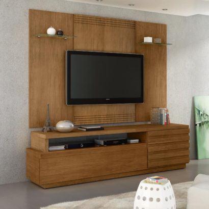 painel tv madeira maciça fotos