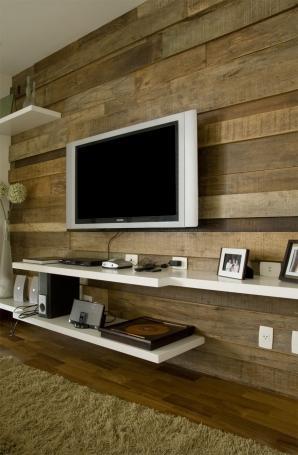 painel tv madeira maciça tabuas