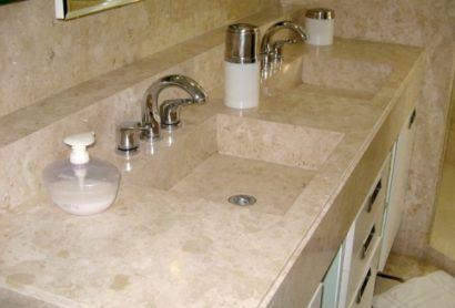 pedra de marmore para banheiro para pia