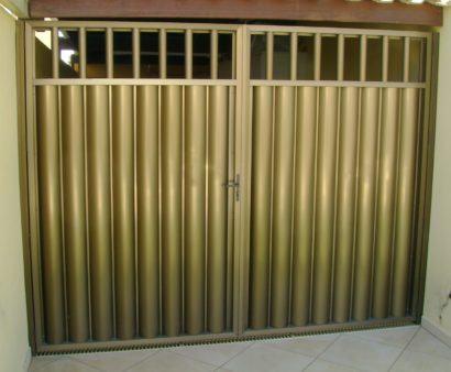 portao de aluminio para garagem fotos