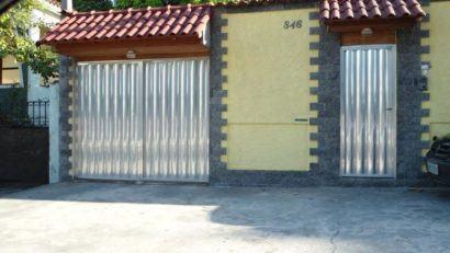 portao de aluminio para garagem residencial