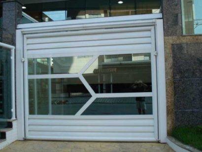 portao de vidro para garagem