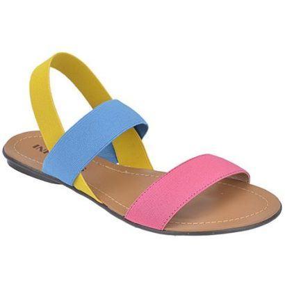 sandalia rasteira com tira elastico 410x410 SAPATOS FEMININOS DA MODA : Os modelitos e cores