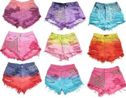 customizar short tie dye