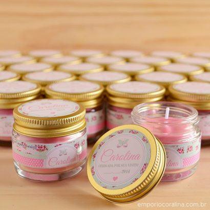 lembrancinha de nascimento velas aromatizadas 410x410 Modelos de Lembrancinhas para nascimento do bebê